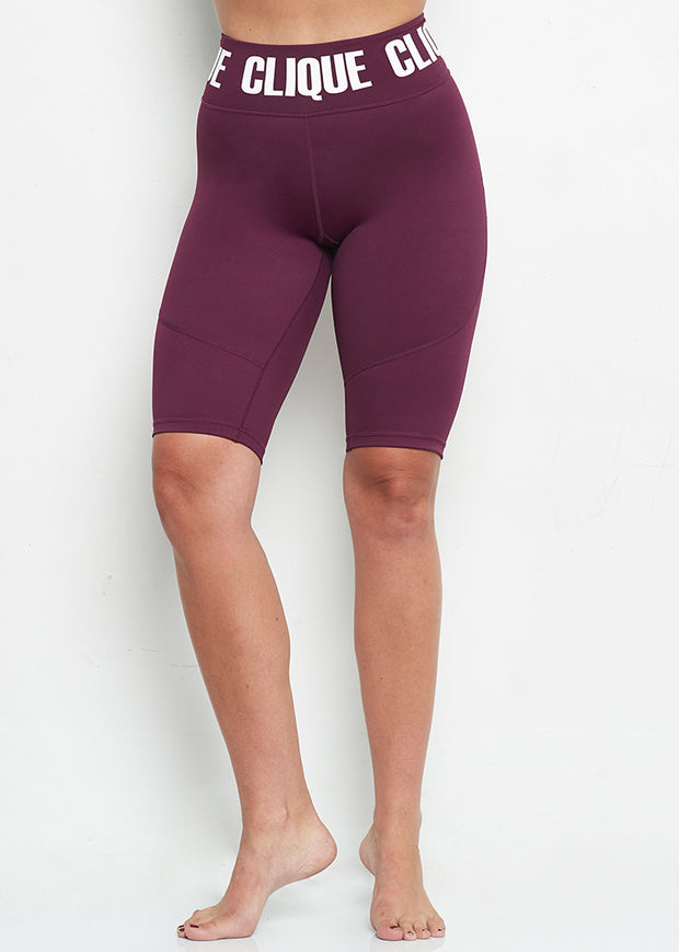 The Biker Short - PLUM