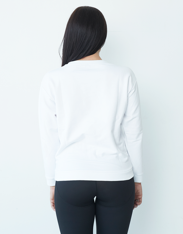 Clique Fitness White 'C' Sweater