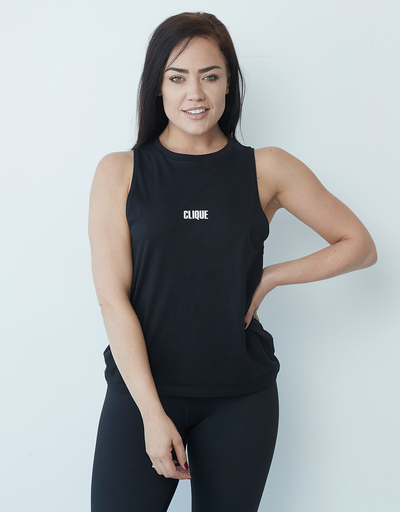 Clique Mini Logo Cut Out Tank - Black