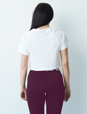 Limited Edition Clique Crop Tee - PLUM