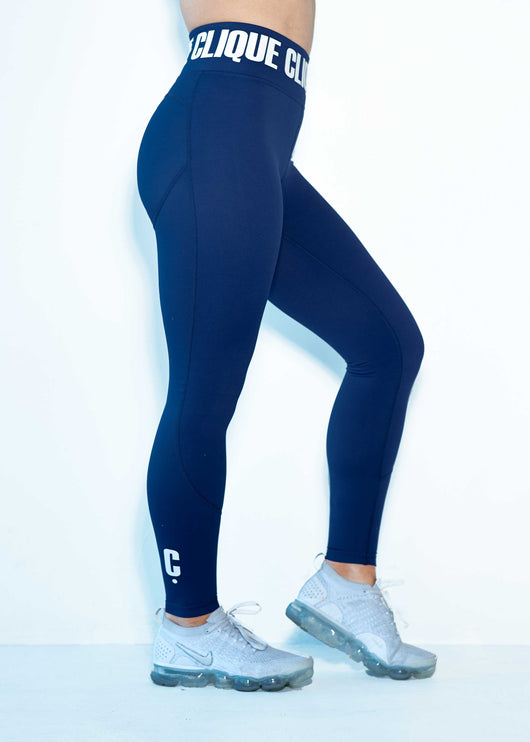 Clique Compression Tights- NAVY - Short