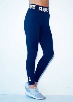Clique Compression Tights- NAVY - Tall