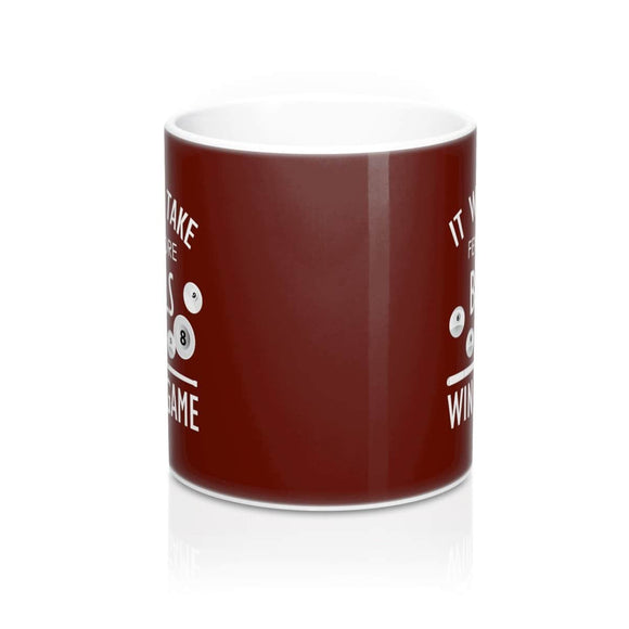 Coffee Mug 11oz (Br) - Win a Game - Billiard-And-Pool-Center