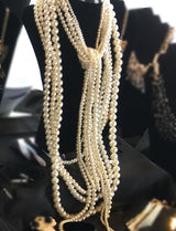 """Heavenly"" Pearl Statement Necklace"
