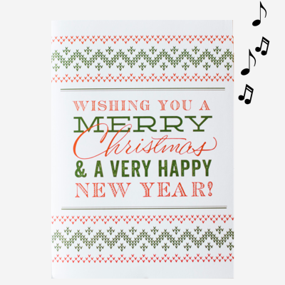 Christmas Card with Confetti Trees shapes