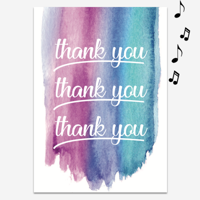 Endless Thank You For Being a Friend - With Glitter