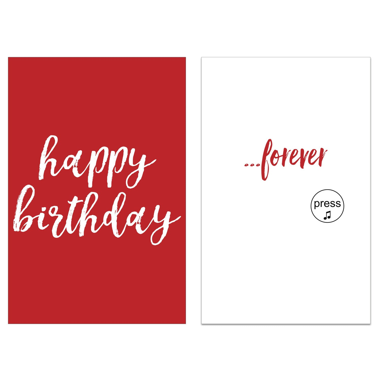 Endless Singing Birthday Card