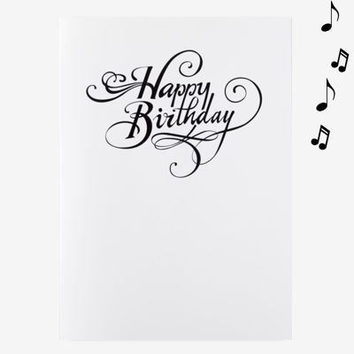 Birthday Card with Glitter - Endless Music