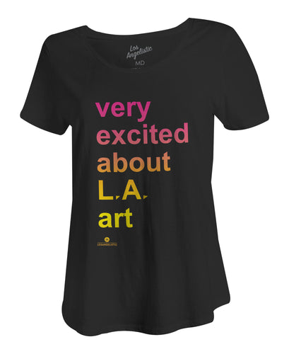 very excited womens tee