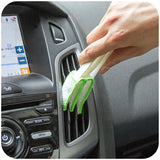 Multifunction double slider car air conditioning outlet clean brush
