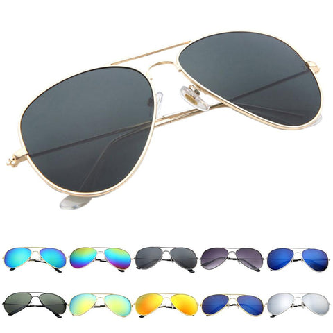 Oculos Polarized Aviator Mirrored Sun Glasses