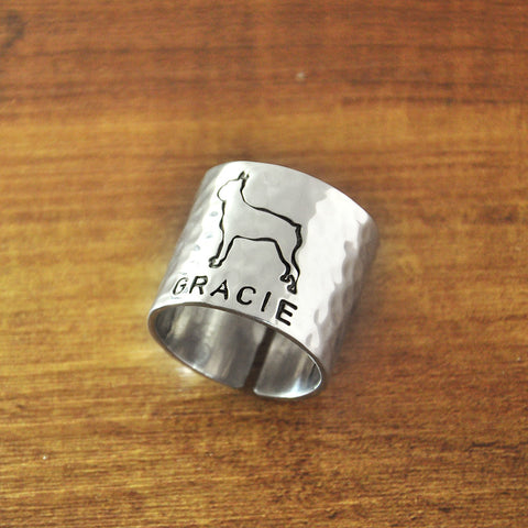 personalized puppy ring
