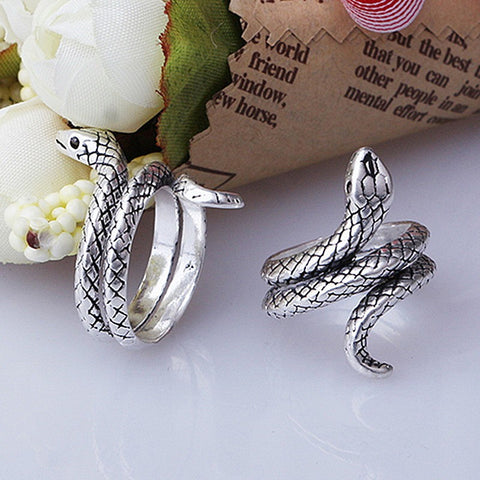 Antique 925 Sterling Silver Snake Ring