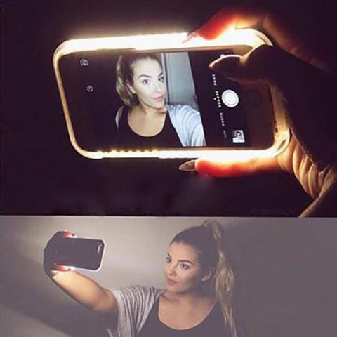 LED Selfie phone Case luxury Illuminated CASE
