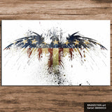 American Eagle Flag Canvas