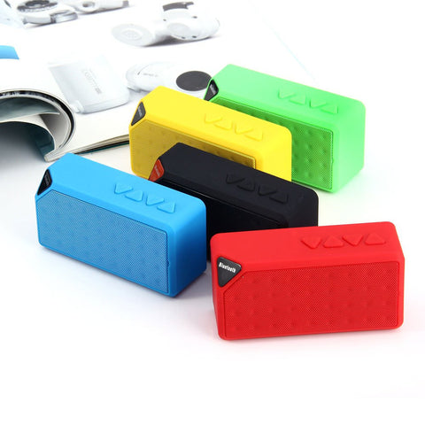 Wireless Mini Bluetooth TF USB FM Speaker Portable Jambox Style Speaker
