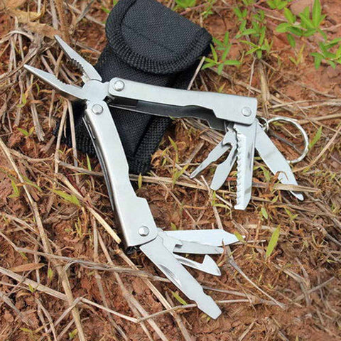 9 in 1 Outdoor Camping Survival Travel Stainless Steel Multifunctional Portable Pliers