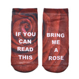 Funny Bring me a glass of wine socks