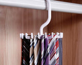 Rotating 20 Hooks Belt Neck Tie Holder