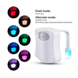 8 colors led toilet motion sensor night light