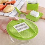 5 In 1 Multifunctional Plastic Vegetable Cutter With 5 Stainless Steel Blades