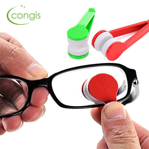 Congis 5PC/set New Microfiber Mini Glasses  Brush