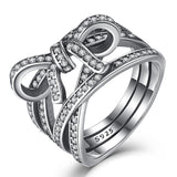 Sterling Silver Big Bow & Infinity Ring
