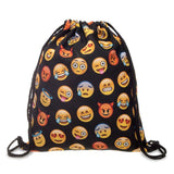 New Emoji Backpack 3D printing draw string