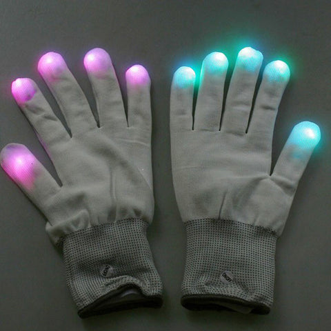 Flashing Rave and light up gloves