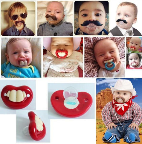 Funny Silicone Baby Pacifiers