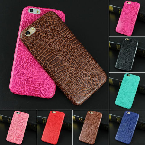 Luxury Crocodile Snake Print Leather Case