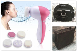 4 in 1 Facial Cleansing Tool with Charcoal Mask and Charcoal Soap