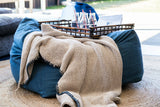 Tigeroy Cotton Throw with Tassels - Chocolate - Body & Soul Beanbags