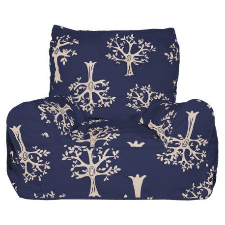 Lelbys Navy Orchard Kids Bean Chair - Body & Soul Beanbags