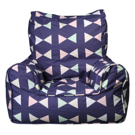 Lelbys Navy Bowtie Kids Bean Chair - Body & Soul Beanbags