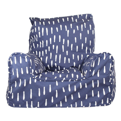 Lelbys Indigo Raindrops Kids Bean Chair - Body & Soul Beanbags