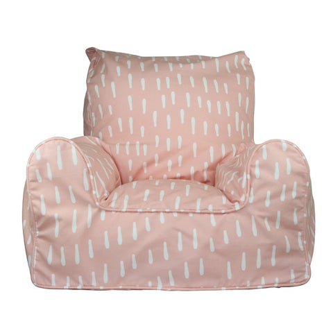 Lelbys Pink Raindrops Girls Bean Chair - Body & Soul Beanbags