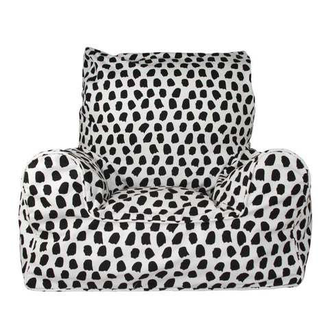 Lelbys Black & White Paint Splotches Kids Bean Chair - Body & Soul Beanbags