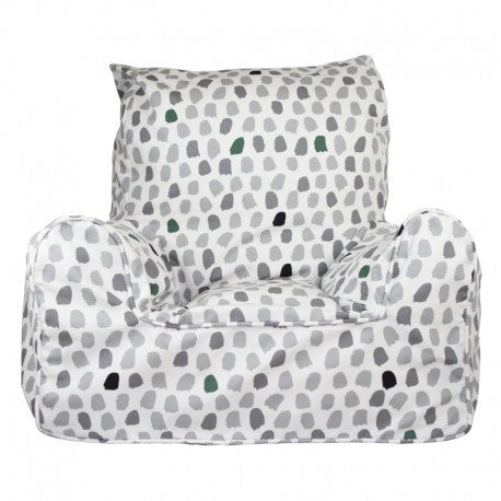 Lelbys Grey & Green Paint Splotches Kids Bean Chair - Body & Soul Beanbags