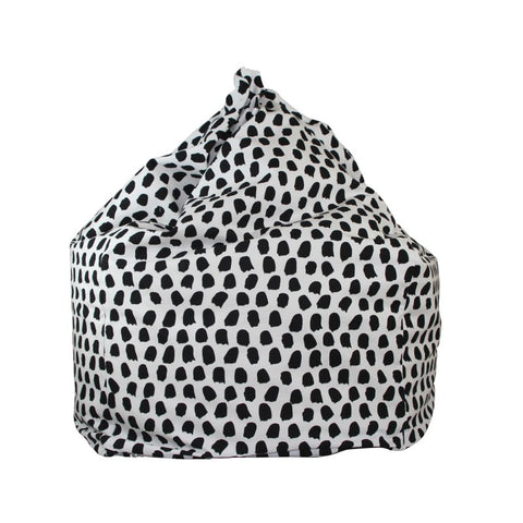 Lelbys Black and White Paint Splotches Kids Bean Bag - Body & Soul Beanbags