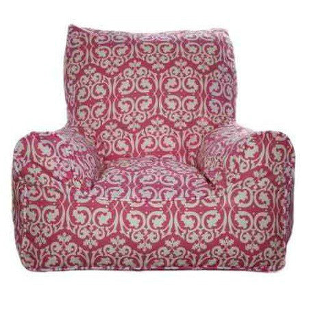 Lelbys Damask Pink Girls Bean Chair - Body & Soul Beanbags