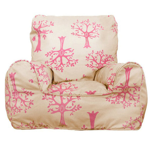 Lelbys Pink Orchard Girls Bean Chair - Body & Soul Beanbags