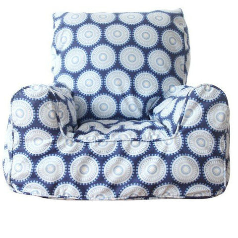 Lelbys Navy Freckles Kids Bean Chair - Body & Soul Beanbags
