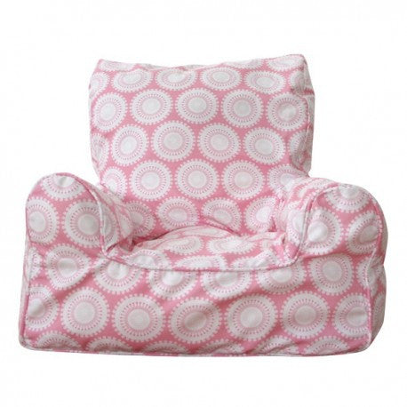 Lelbys Pink Freckles Girls Bean Chair - Body & Soul Beanbags
