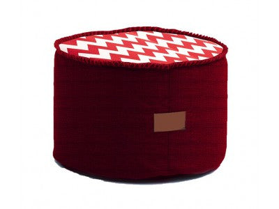 Red & White Astor Ottoman - Body & Soul Beanbags