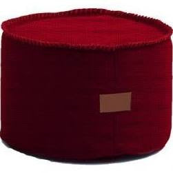 Red Astor Ottoman - Body & Soul Beanbags