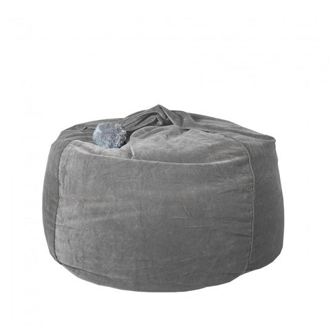 Tigeroy Light Grey Velvet Bean Bag - Body & Soul Beanbags