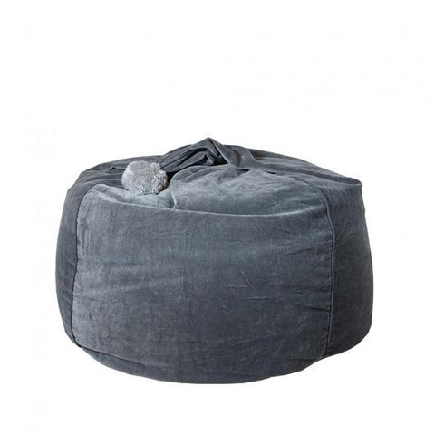 Tigeroy Dark Grey Velvet Bean Bag - Body & Soul Beanbags