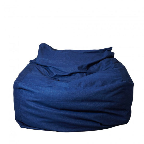 Tigeroy Dark Denim Seated Bean Bag - Body & Soul Beanbags