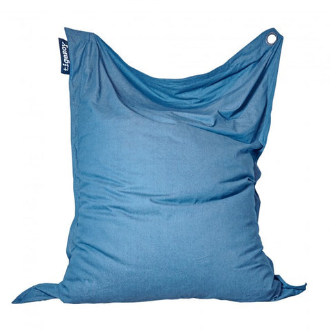Tigeroy Light Denim Rectangle Bean Bag - Body & Soul Beanbags